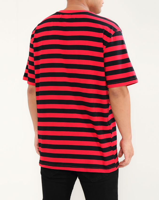 STRIPED DEMON GIRL SHIRT-COLOR: RED