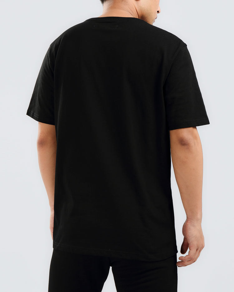 BIG AND TALL CORE 3D RUBBER PATCH SHIRT-COLOR: BLACK