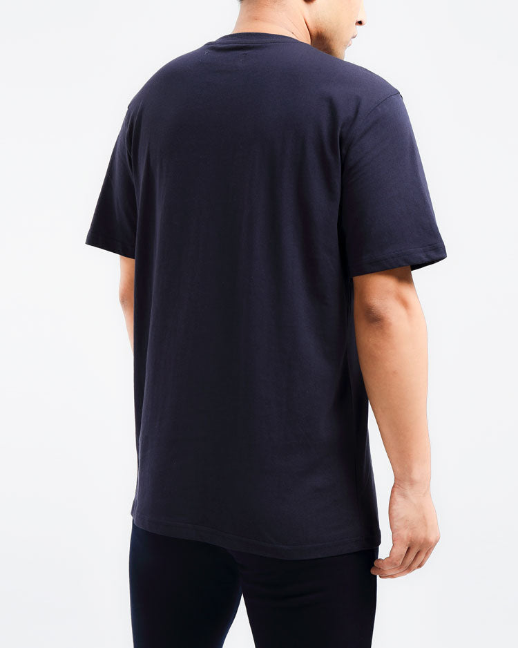 CORE 3D RUBBER PATCH SHIRT-COLOR: NAVY