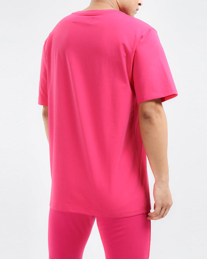 CORE 3D RUBBER PATCH SHIRT-COLOR: PINK