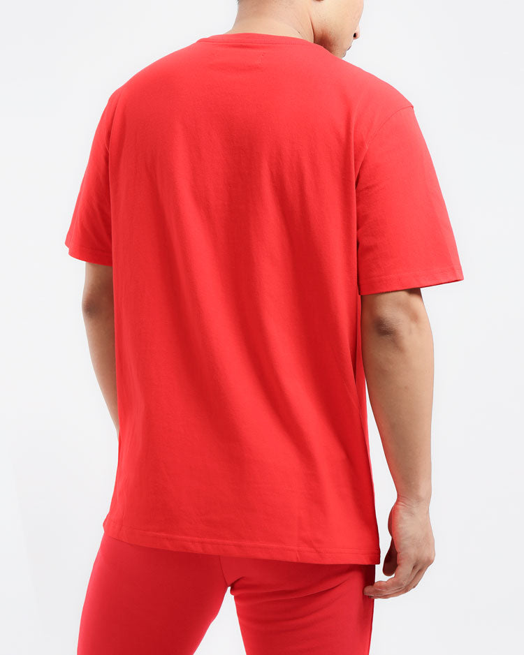 CORE 3D RUBBER PATCH SHIRT-COLOR: RED