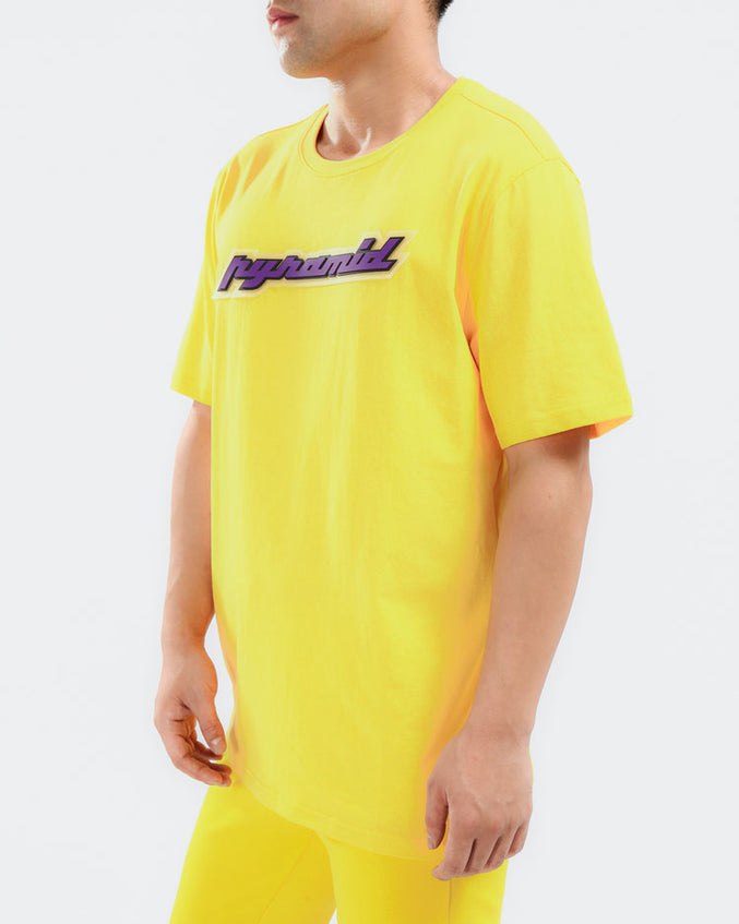 CORE 3D RUBBER PATCH SHIRT-COLOR: YELLOW