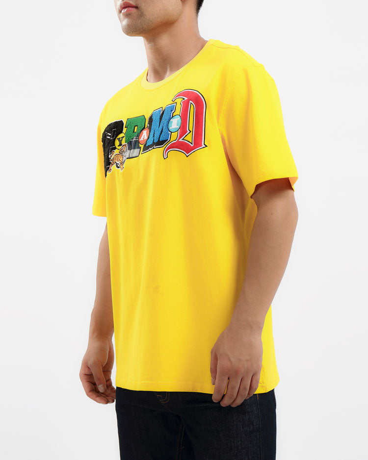 COLLAGE TYPE SHIRT-COLOR: YELLOW