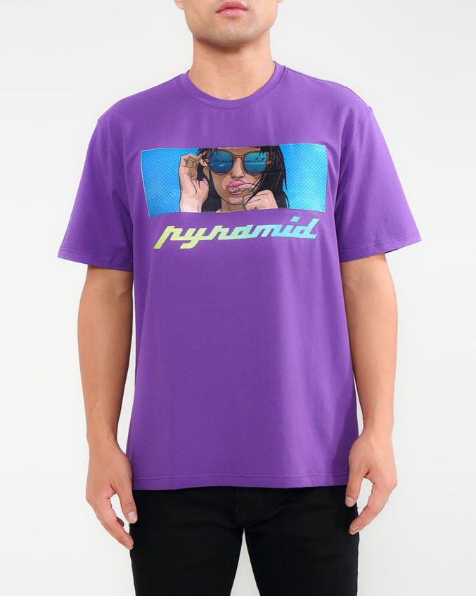 TATTED GIRL SHIRT-COLOR: PURPLE