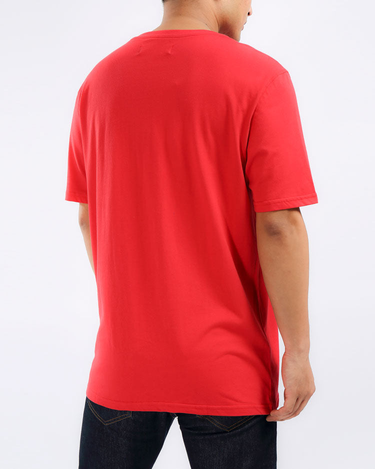 SPLIT SKULL RETRO SHIRT-COLOR: RED