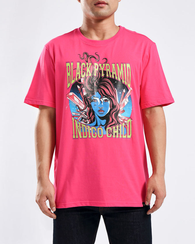 GEM STAR INDIGO CHILD TEE-COLOR: PINK