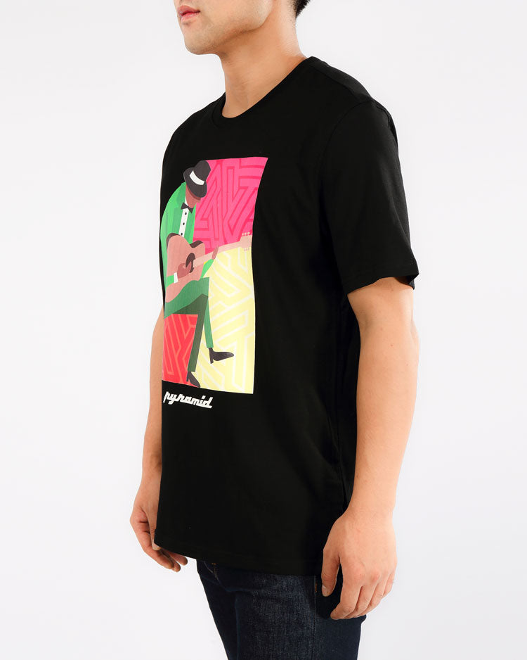 JAZZ MAN TEE-COLOR: BLACK
