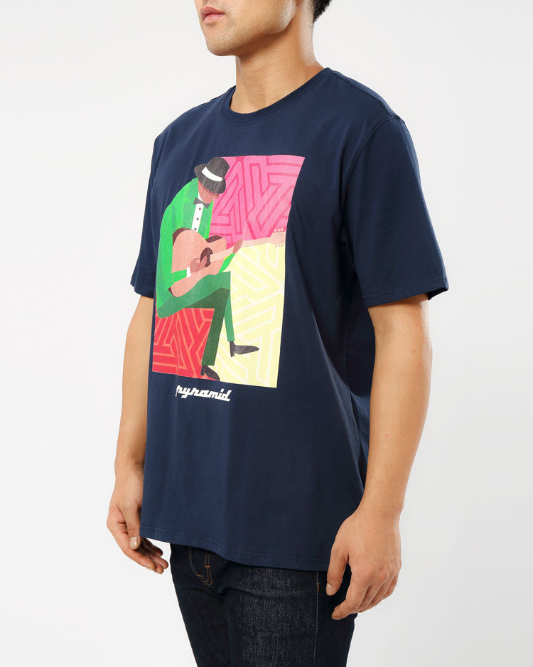 JAZZ MAN TEE-COLOR: NAVY