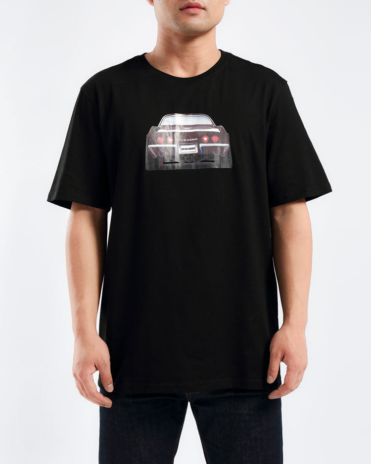 REAR VIEW TEE-COLOR: BLACK