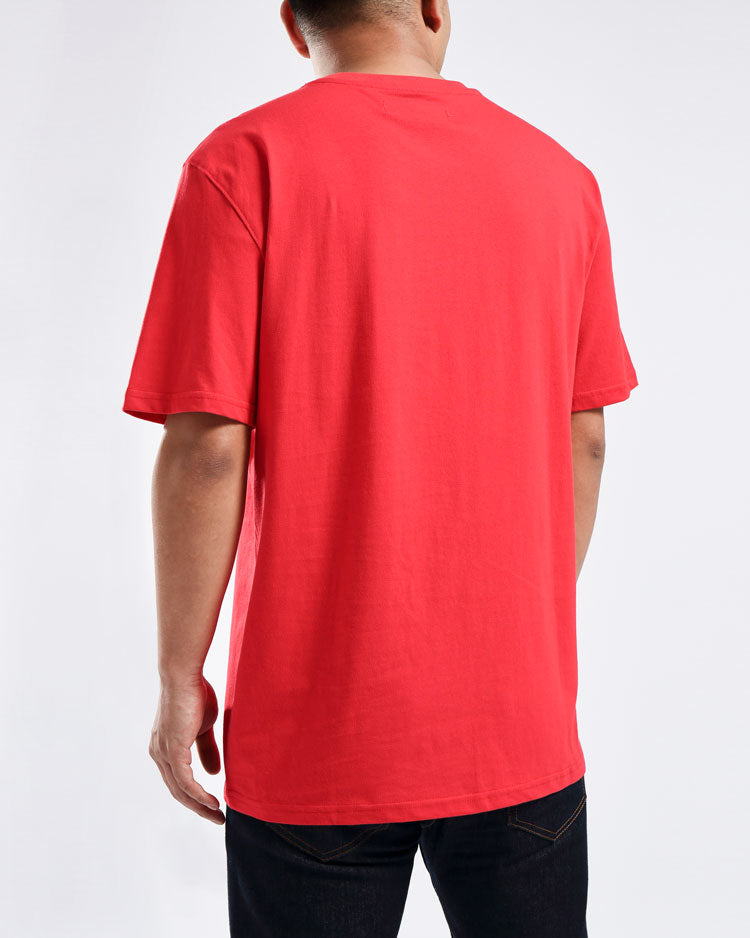 REAR VIEW TEE-COLOR: RED