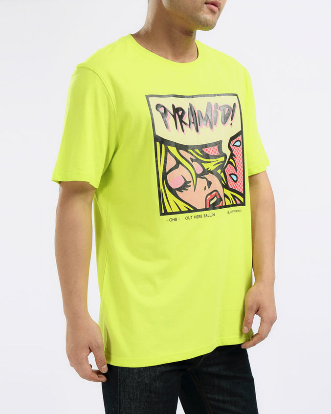 RESTING PYRAMID FACE TEE-COLOR: GREEN