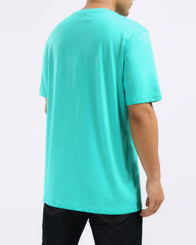 RESTING PYRAMID FACE TEE-COLOR: TEAL