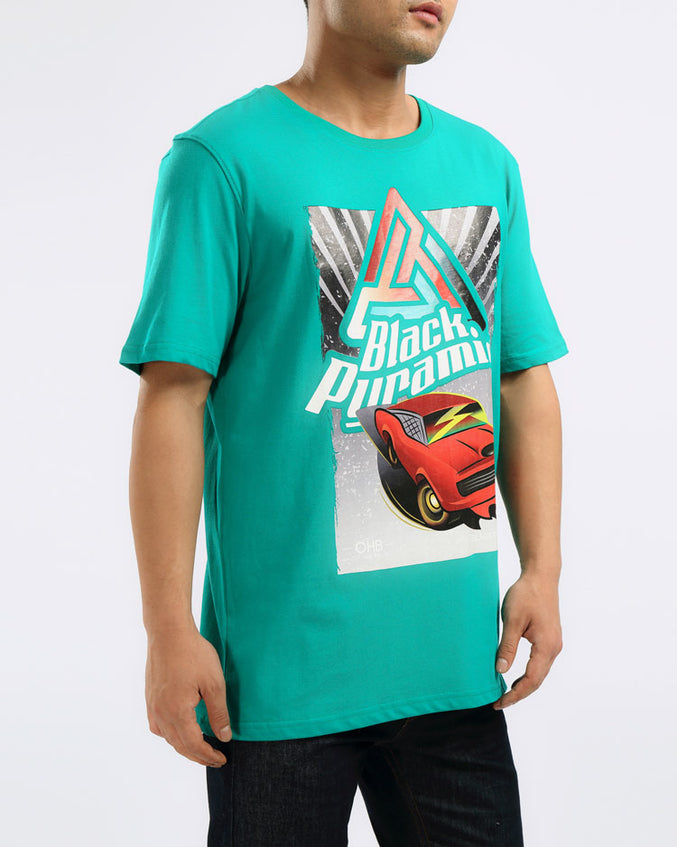 OHB HOT ROD TEE-COLOR: TEAL