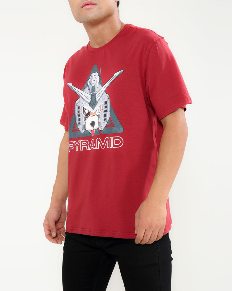 ROBO DOG SHIRT-COLOR: BURGUNDY