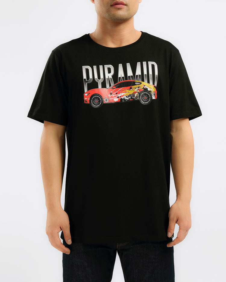 ANIME CAR SHIRT-COLOR: BLACK