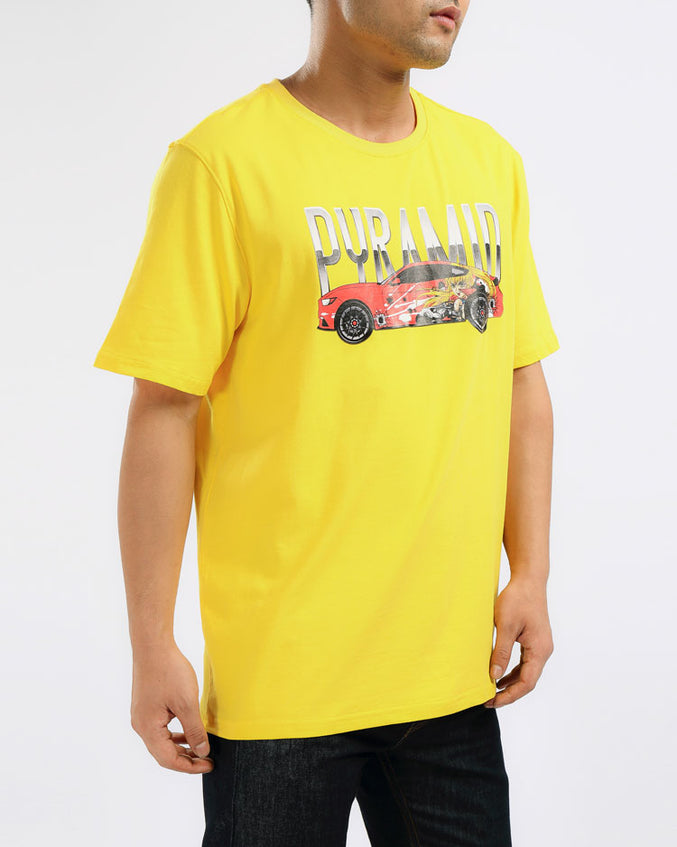 ANIME CAR SHIRT-COLOR: YELLOW