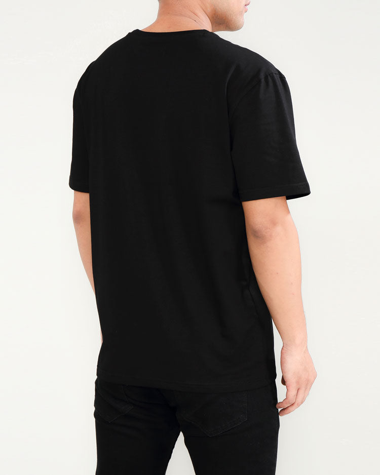 BIG AND TALL CYBER SHARK SHIRT-COLOR: BLACK