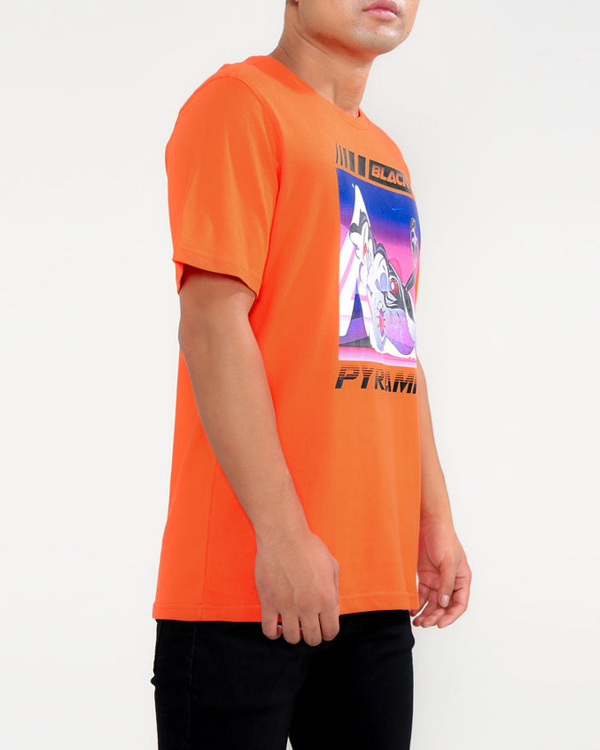 SPEED GIRL TEE-COLOR: ORANGE