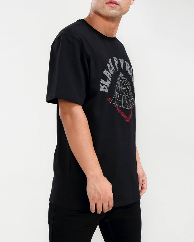 STONED DRIP LOGO SHIRT-COLOR: BLACK