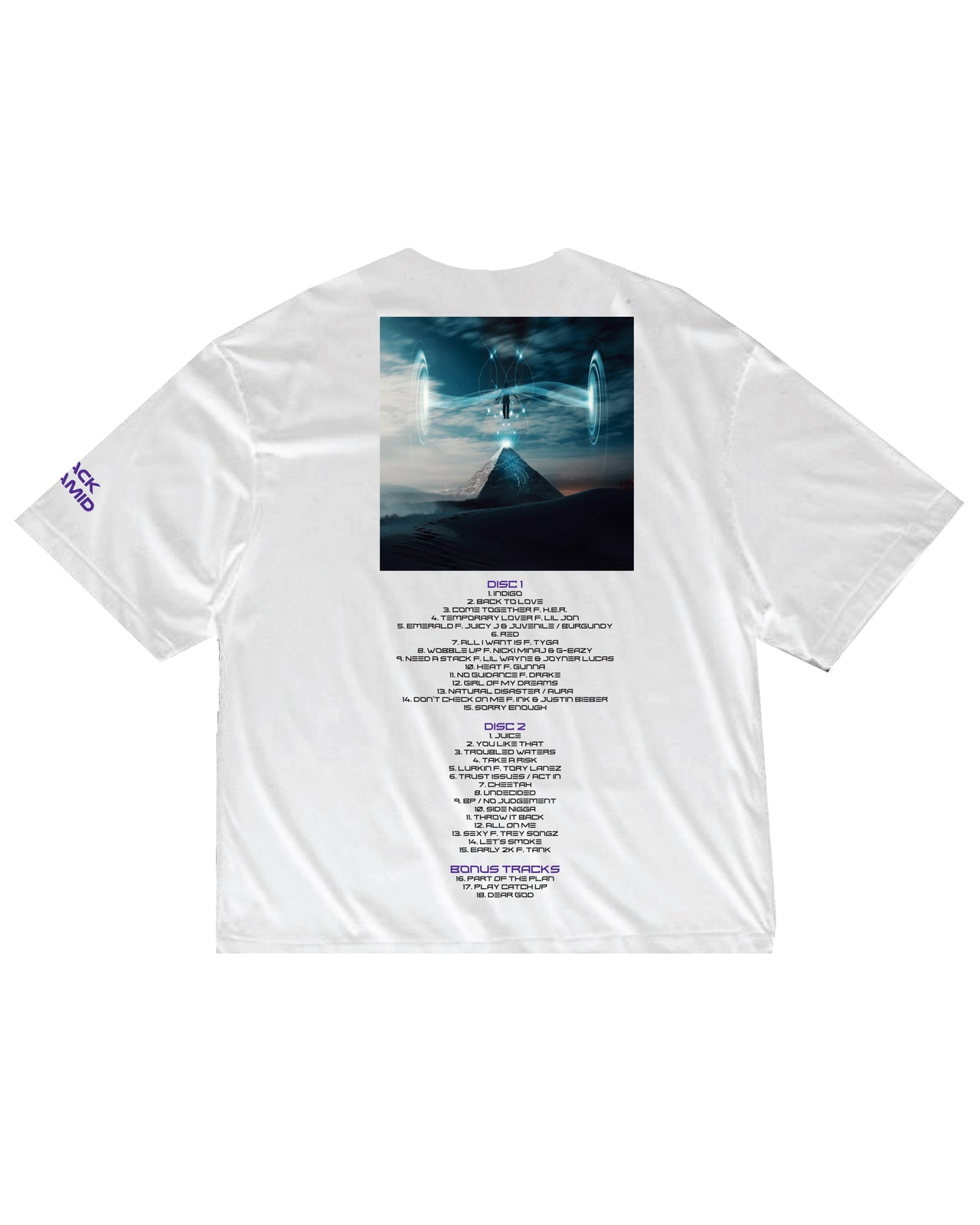 INDIGO BOX COVER SHIRT AND DIGITAL ALBUM-COLOR: WHITE
