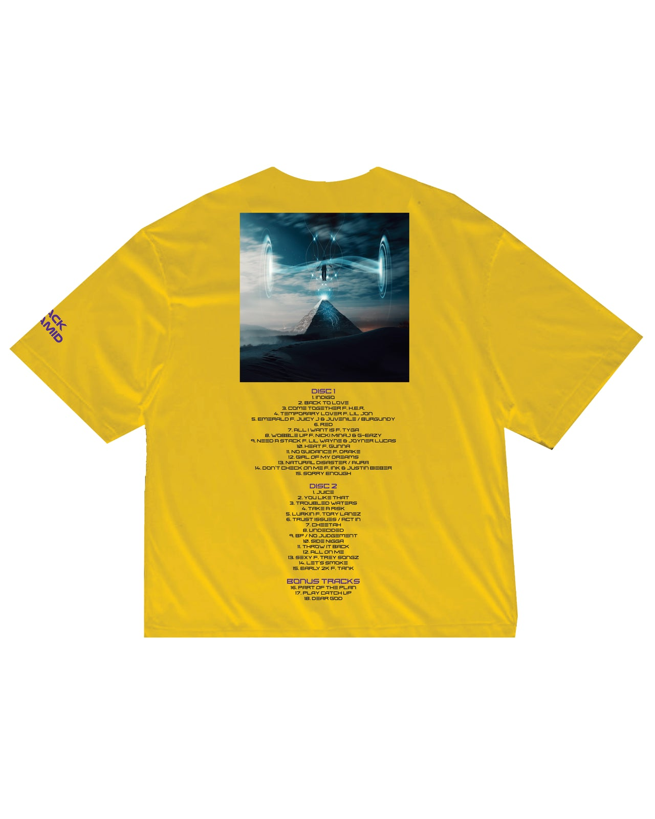 INDIGO BOX COVER SHIRT AND DIGITAL ALBUM-COLOR: YELLOW