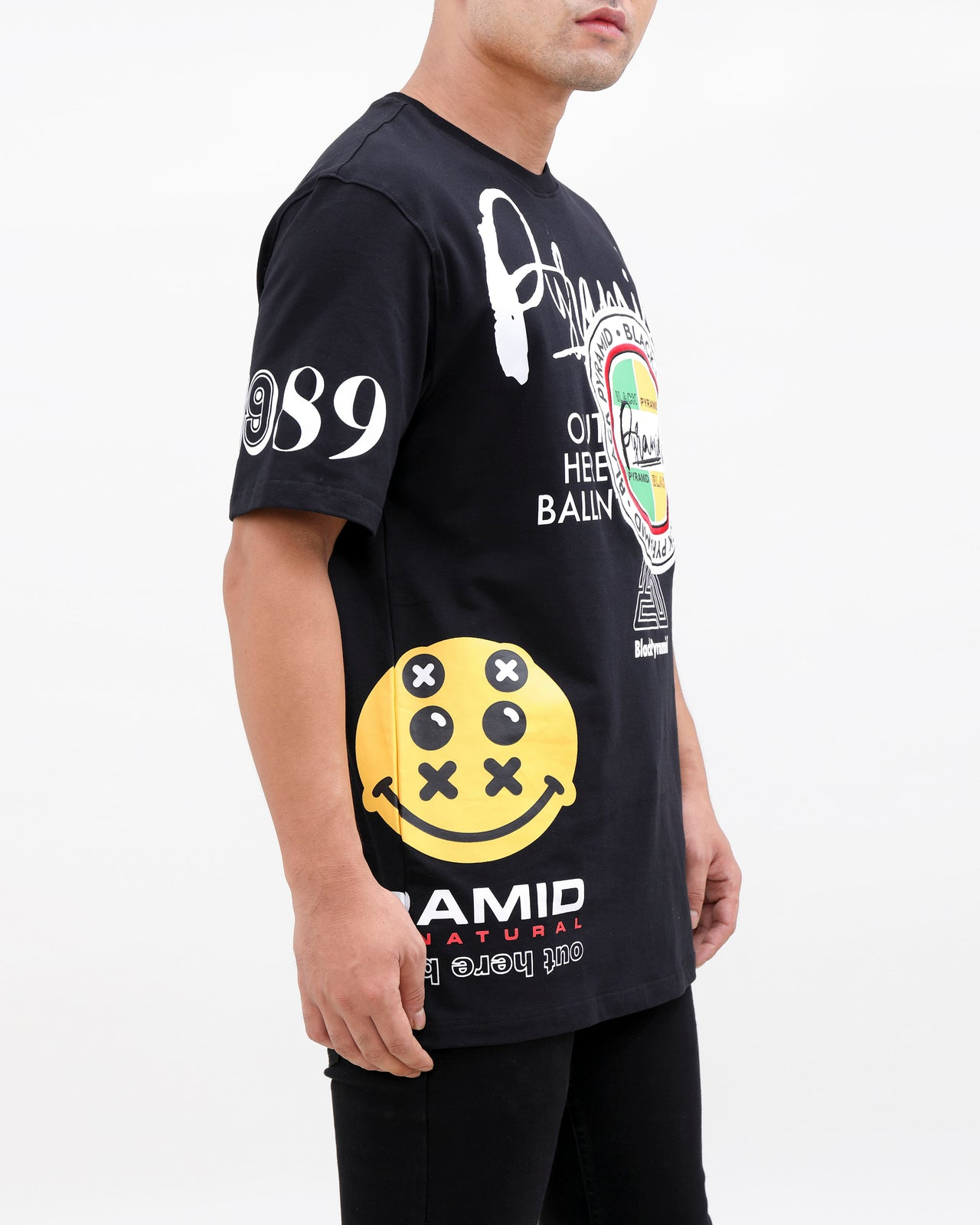 WORLD FAMOUS LOGOS SHIRT-COLOR: BLACK
