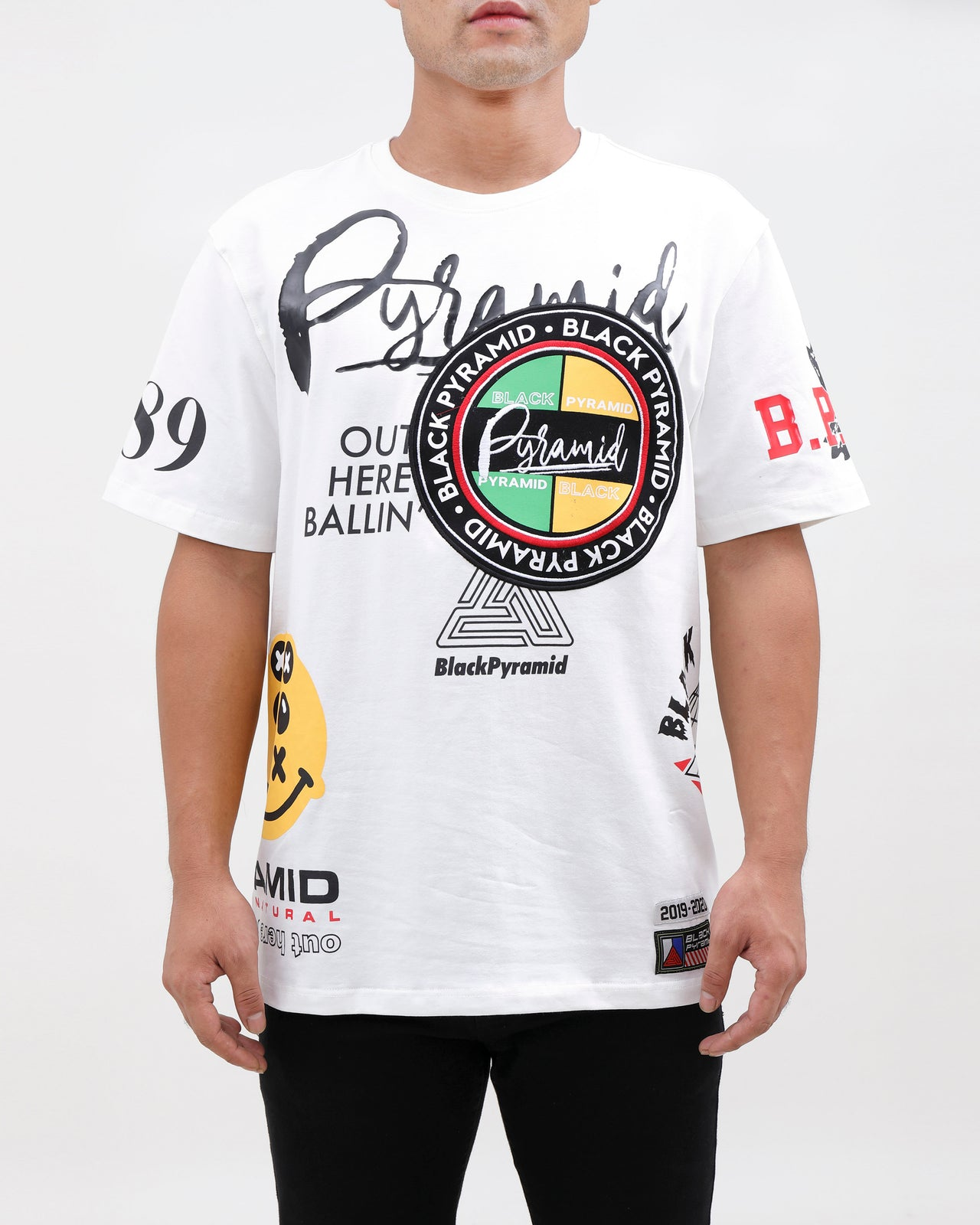WORLD FAMOUS LOGOS SHIRT-COLOR: WHITE