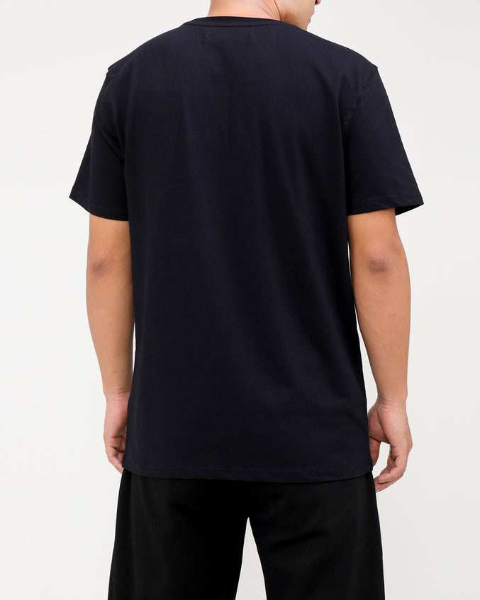 BP SPLIT TEXT SHIRT-COLOR: BLACK