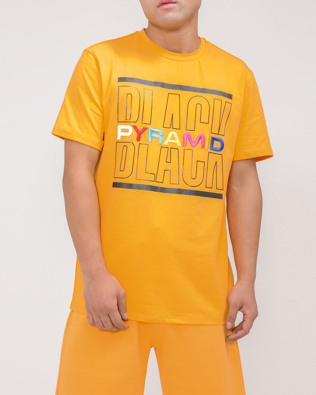 BP SPLIT TEXT SHIRT-COLOR: ORANGE