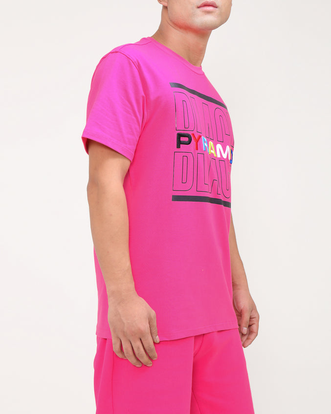 BP SPLIT TEXT SHIRT-COLOR: PINK