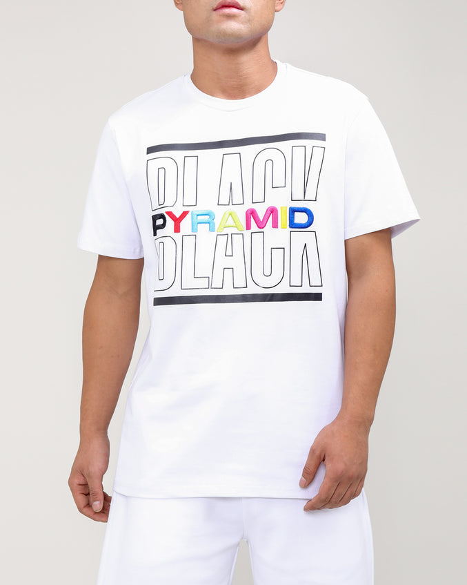 BP SPLIT TEXT SHIRT-COLOR: WHITE
