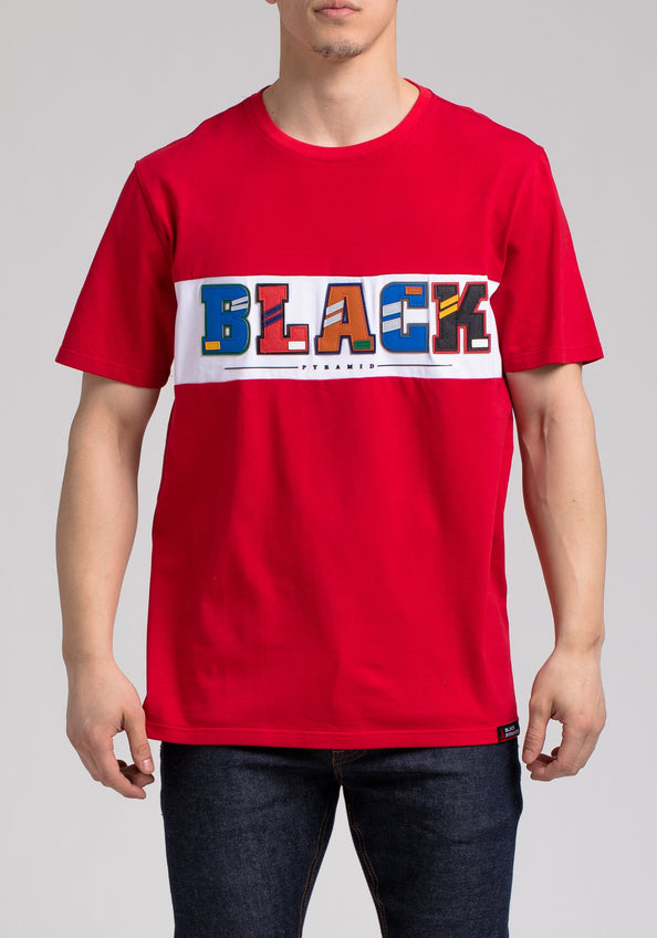 BP LETTERS SS SHIRT - Color: RED