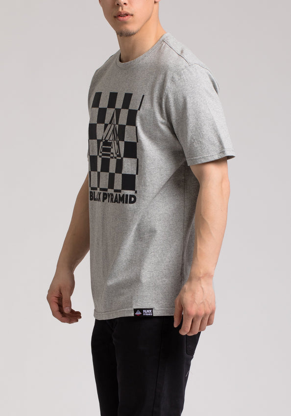 CHECKER SS SHIRT - Color: Gray