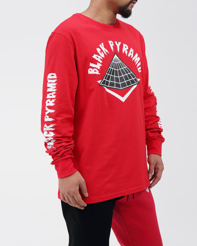BP Drip Logo LS Shirt - Color: Red