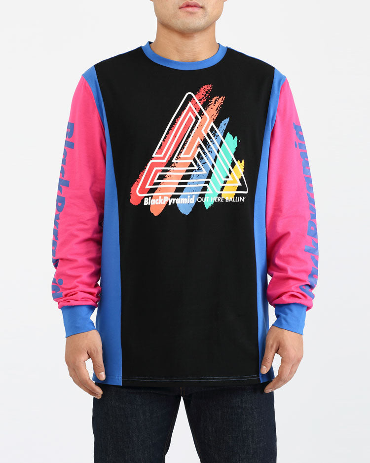 PAINT STREAKS OHB LS SHIRT-COLOR: BLACK