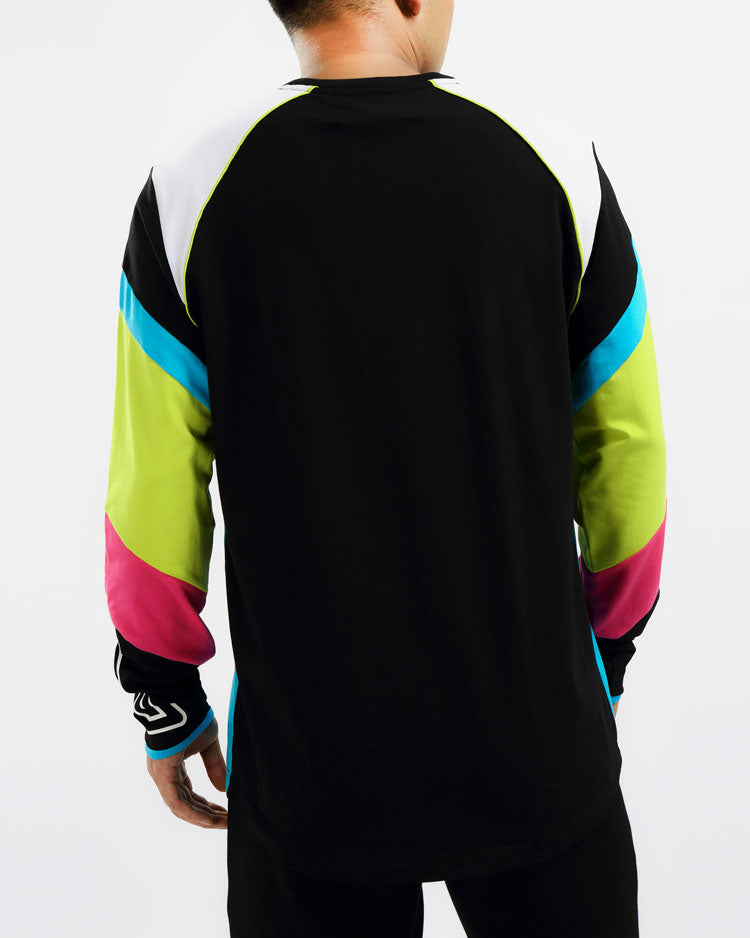 MAZE MOTO LS SHIRT-COLOR: BLACK