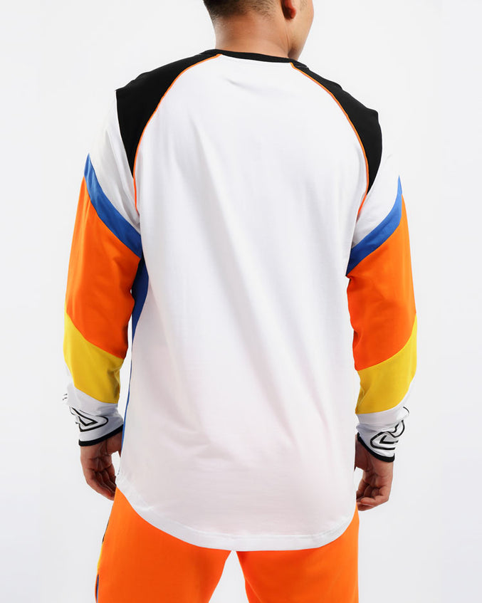 MAZE MOTO LS SHIRT-COLOR: WHITE