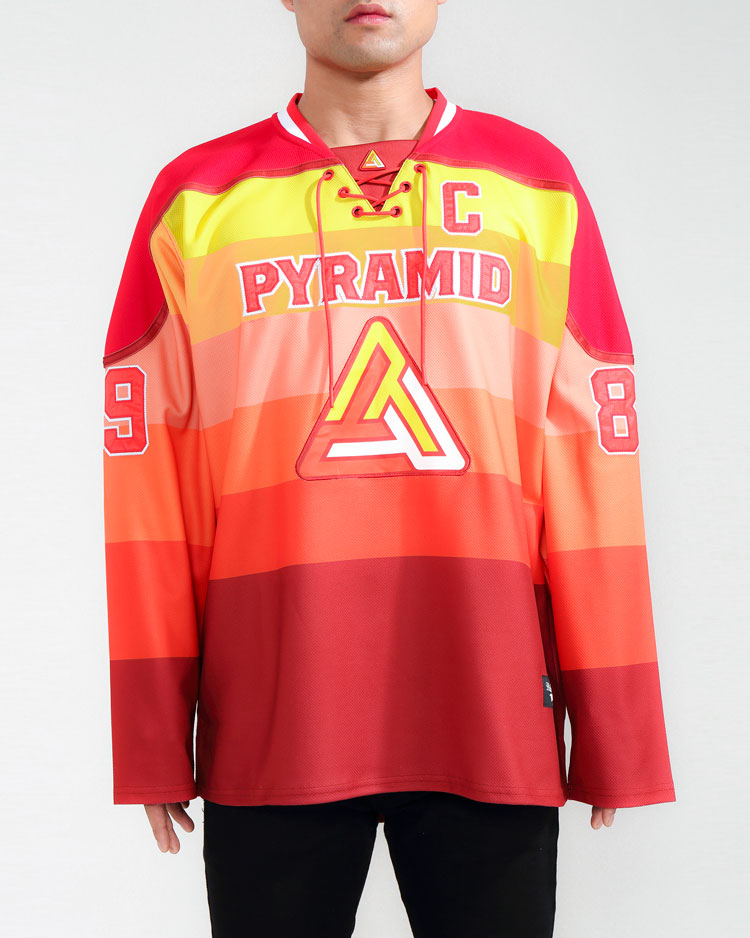 GRADIENT HOCKEY JERSEY-COLOR: RED