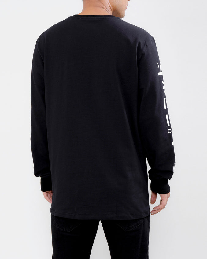 GO RACER LS TEE-COLOR: BLACK
