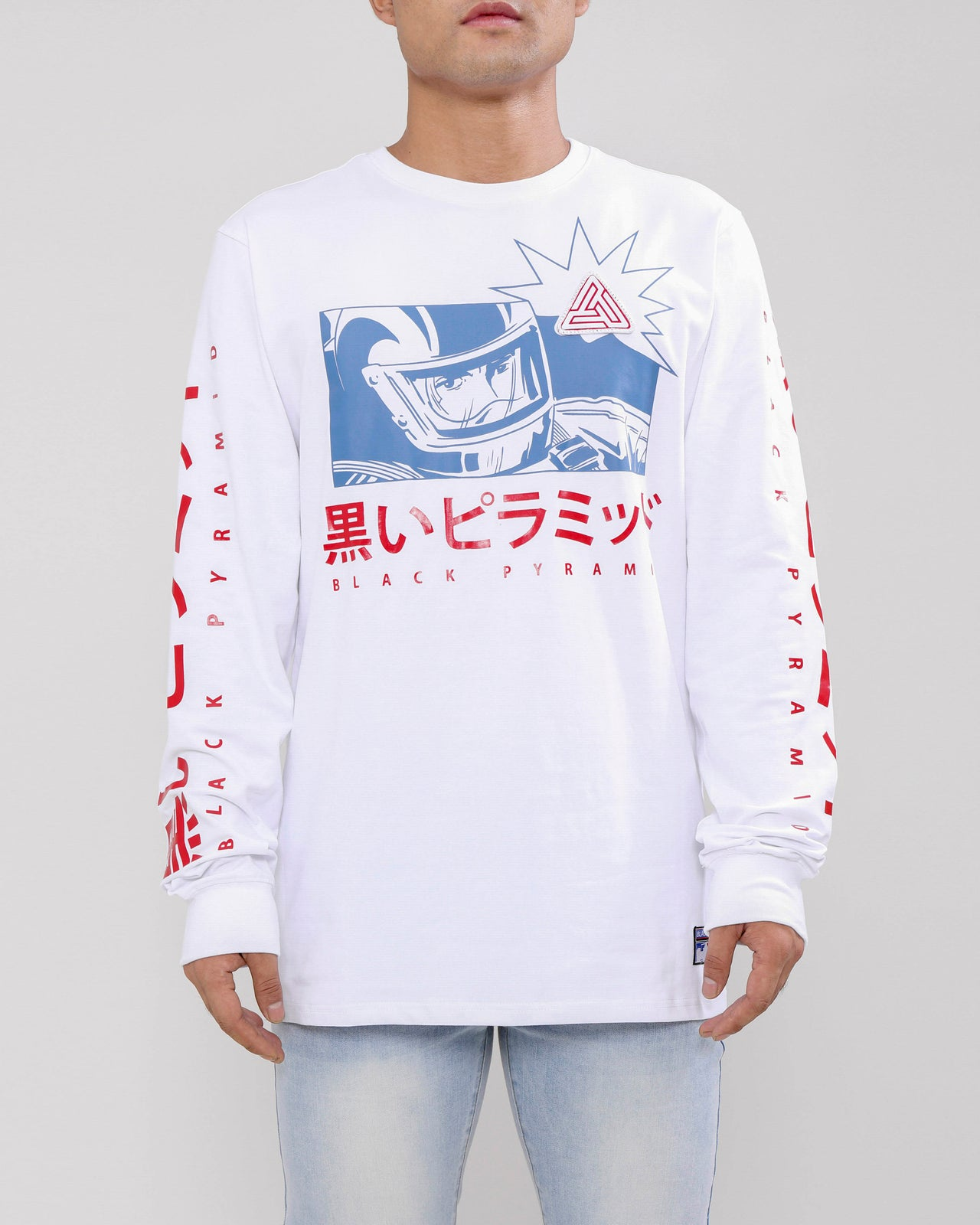 GO RACER LS TEE-COLOR: WHITE