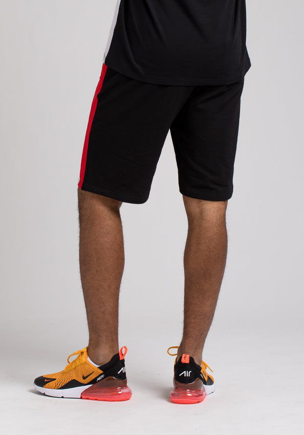 BPYRAMID COLOR BLOCK SHORTS - Color: Black