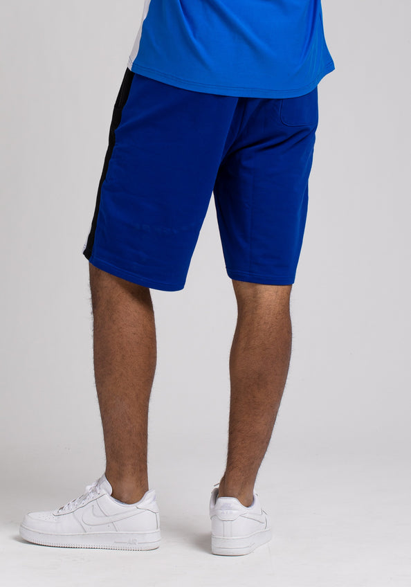 BPYRAMID COLOR BLOCK SHORTS - Color: Blue