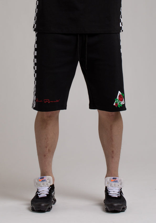 Rose And Pyramid Logo Short - Color: Black