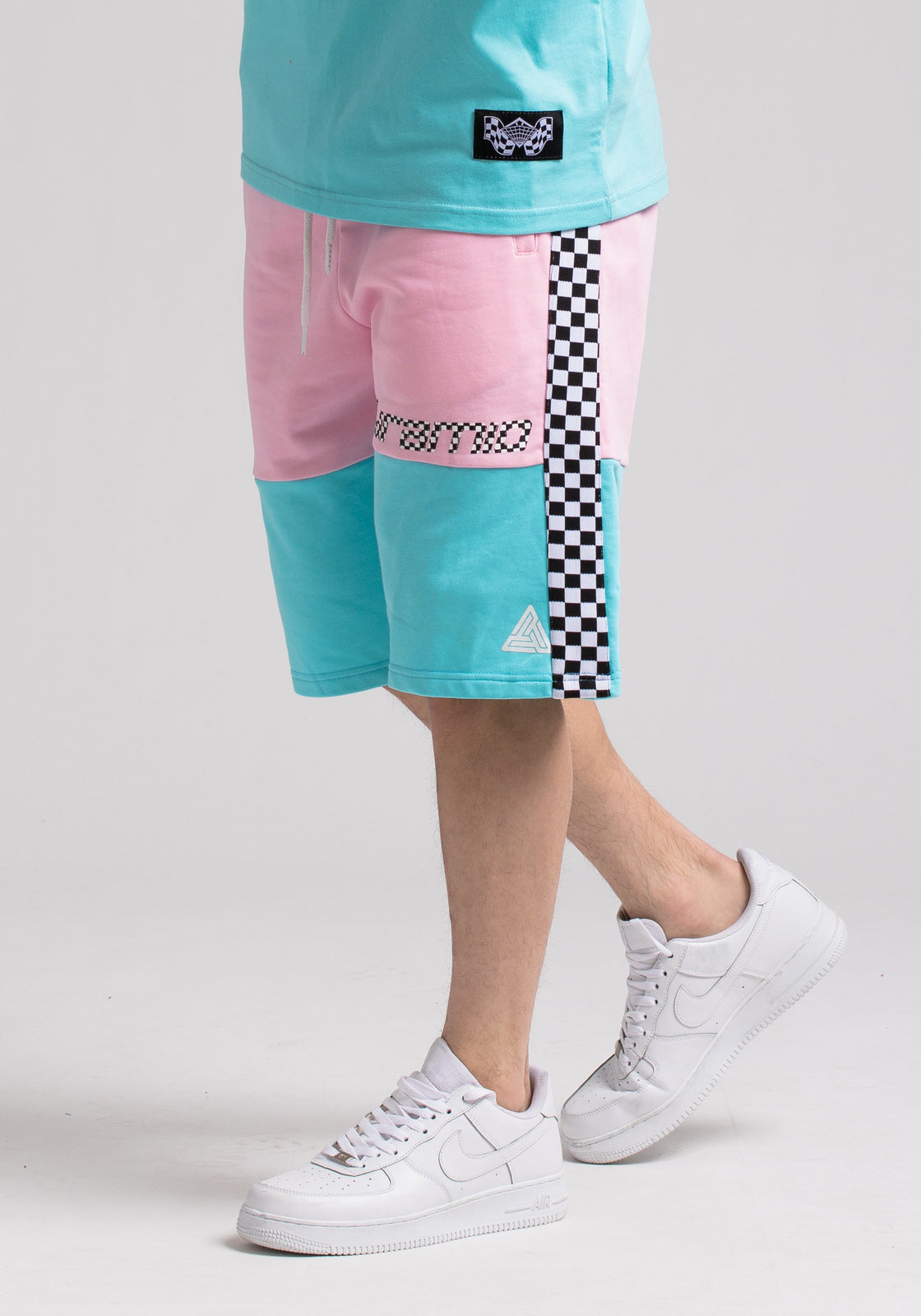 BP MICRO CHECKER BLOCK SHORT - Color: Pink