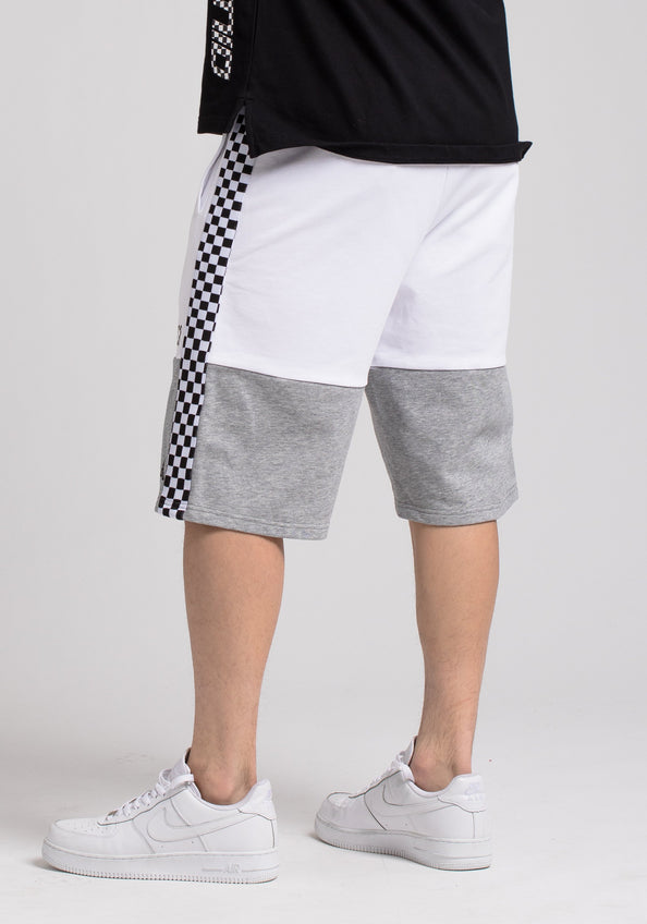 BP MICRO CHECKER BLOCK SHORT - Color: White