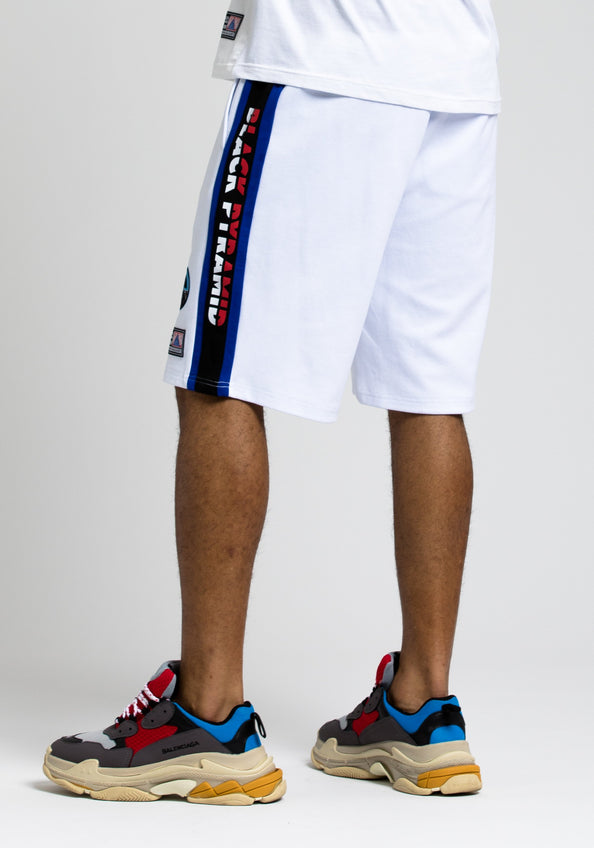 Moto Out Here Ballin Short - Color: White