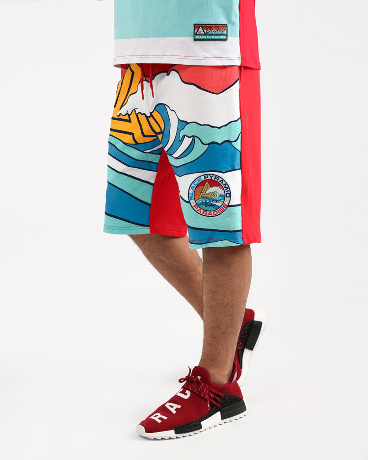 SURF PARADISE WAVE SHORT-COLOR: MULTI COLOR