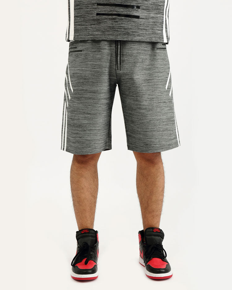 BIG AND TALL BLACK CYBER SHORT-COLOR: BLACK