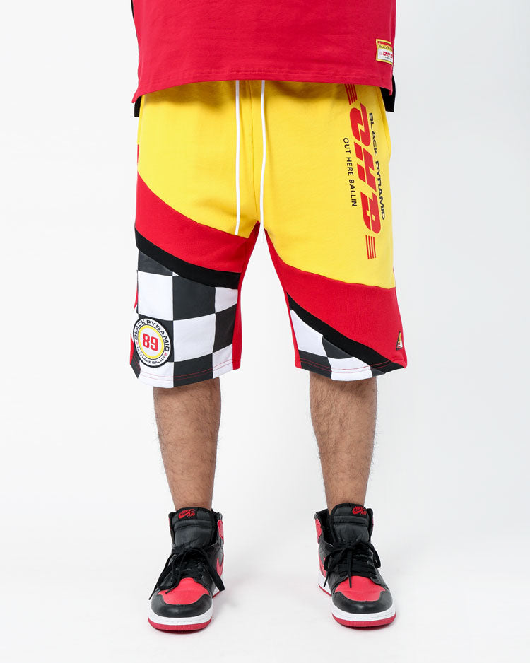 OHB RACING FLAG SHORTS-COLOR: RED