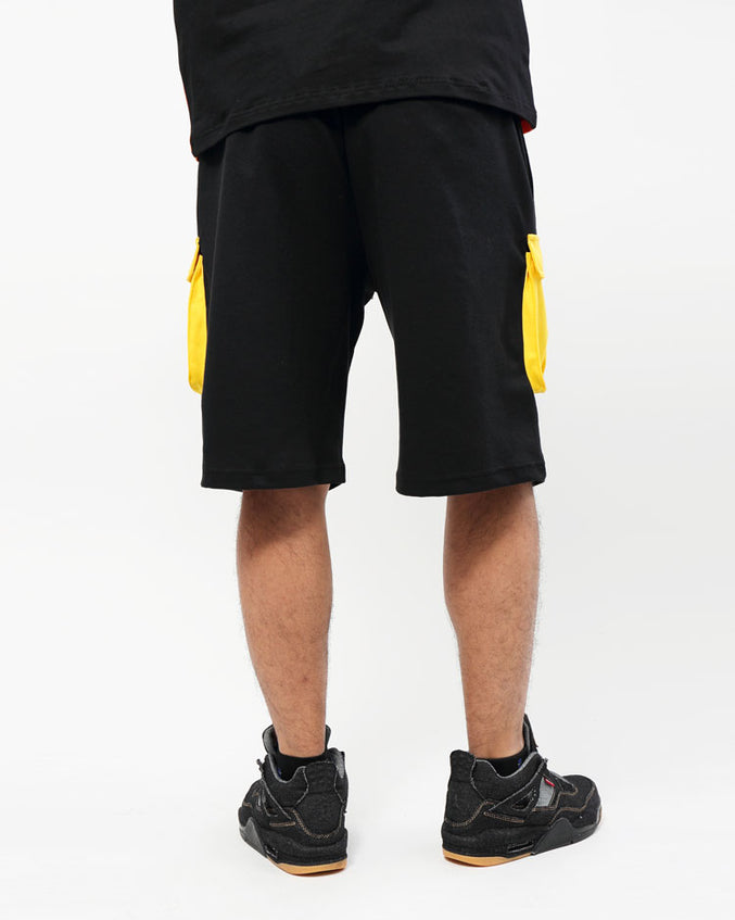 BIG AND TALL OUTDOORS SHORT-COLOR: BLACK